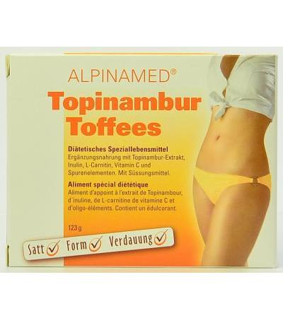 Alpinamed Topinambur Toffees mit Carnitin, Inulin, Spurenelementen - 30 Stk.