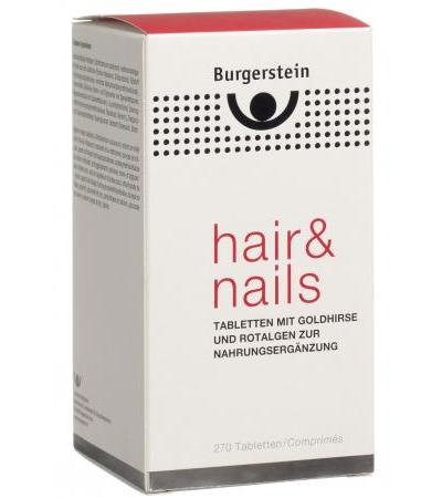 Burgerstein - Hair & Nails - Goldhirse und Rotalgen - 240 Tabletten
