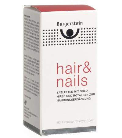 Burgerstein - Hair & Nails - Goldhirse und Rotalgen - 90 Tabletten