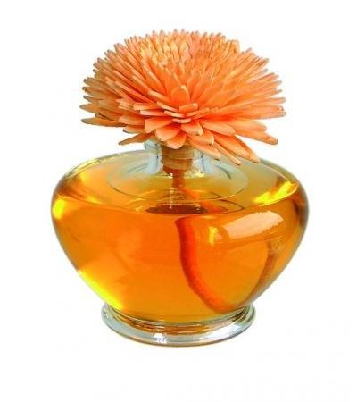 "Essence of Nature - Sesbania Orchidee Raumduft mit handgemachter Duftblume orange ""Summer Blossom"" 100ml"