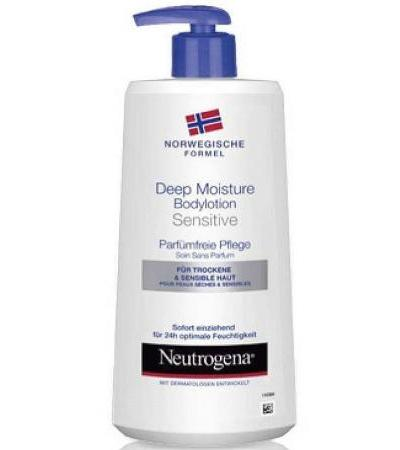 Neutrogena Deep Moisture Bodylotion sensitiv ohne Parfum - 400ml